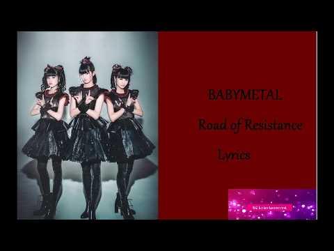 BABYMETAL- Road of Resistance (LYRIC VIDEO)