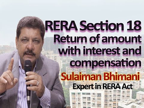 Rera Section 18, Return of amount with interest and compensation : Sulaiman Bhimani