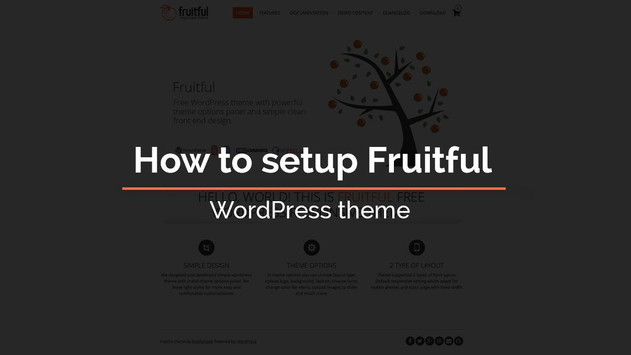 How To Setup Fruitful Wordpress Theme Youtube