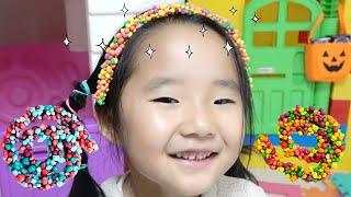 시크릿쥬쥬 사탕 로프 젤리 캔디 눈알 젤리 숨바꼭질 보물찾기 먹방 Suji pretend play eyeball jelly rope jelly candy