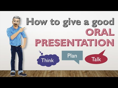 ESL - Guidelines on how to give a good ORAL PRESENTATION