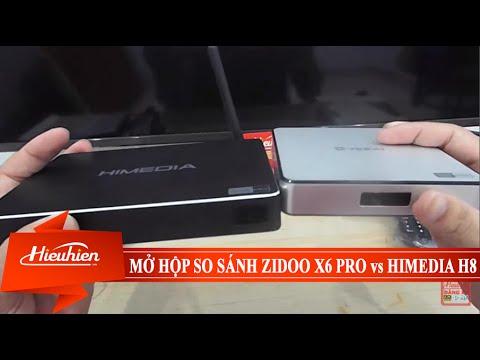 [Hieuhien.vn] Mở hộp so sánh Zidoo X6 PRO vs Himedia H8