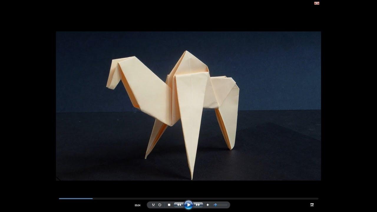 Как сделать верблюда из бумаги. Оригами верблюд. Origami camel