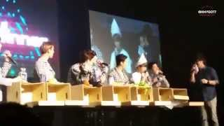 [Fancam] 150321 GOT7 Fanmeeting in KL Malaysia - Box Game and Reading Letters