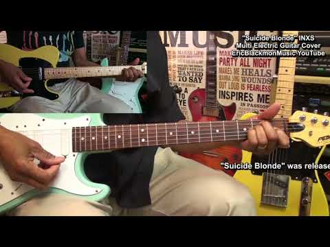 Suicide Blonde Electric Guitar Cover INXS EEMusicLIVE Lesson Link