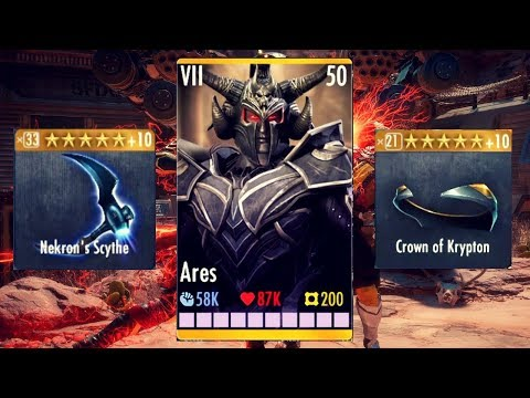 The BEST Ares Gear Setup! Injustice Gods Among Us 3.2! IOS/Android!