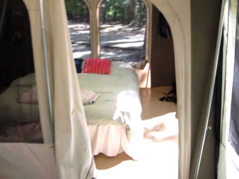 Kodiak Canvas Cabin Tent w/ wall enclosure & Kodiak Canvas Cabin Tent w/ wall enclosure - YouTube
