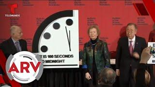 Reloj del fin del mundo se adelanta a 100 segundos del Apocalipsis | Al Rojo Vivo | Telemundo