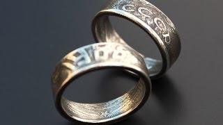 Двухстороннее кольцо из монеты сверлом