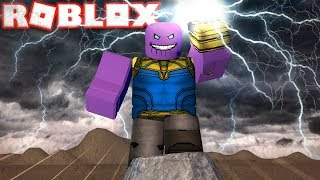 BECOMING THE STRONGEST THANOS IN ROBLOX