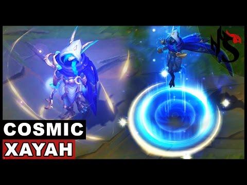 Cosmic Dusk Xayah Skin Spotlight (League of Legends) - YouTube
