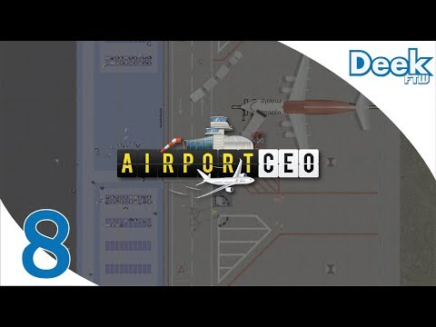 Let's Play Airport CEO - 8 - Stress Testing our Terminal - Medium Class Flights and Improvements