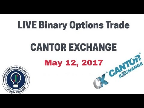 Binary Options Trading Strategy - Cantor Exchange Trade May 12 2017 -  Also works with Nadex