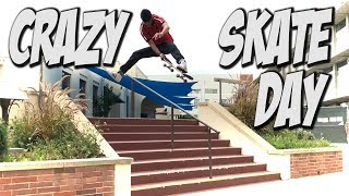 ONE CRAZY SKATE DAY WITH SOME NEW SKATERS !!! - NKA VIDS -