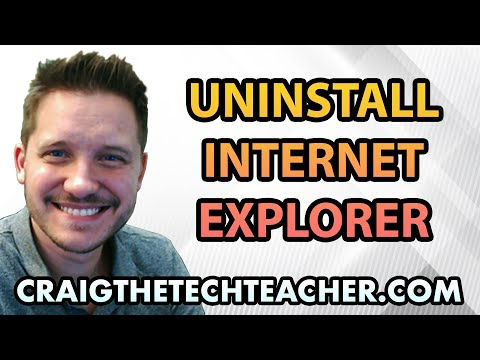 How To Uninstall Internet Explorer in Windows 7