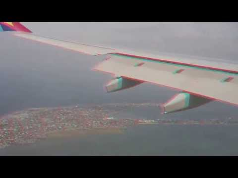 3D Video Asiana Airlines Landing Manila, Philippines