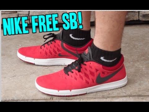 nike free sb on feet