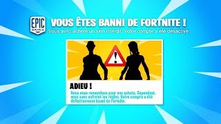 DON'T DO THIS SKIN. You will be banned from Fortnite!!