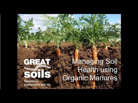 GREATsoils:  Managing soil health using organic manures