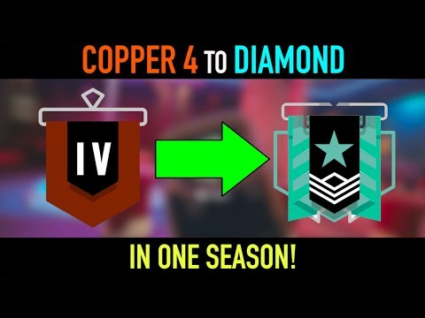 GOING FROM COPPER 4 TO DIAMOND IN ONE SEASON - Rainbow Six Siege: Operation Chimera