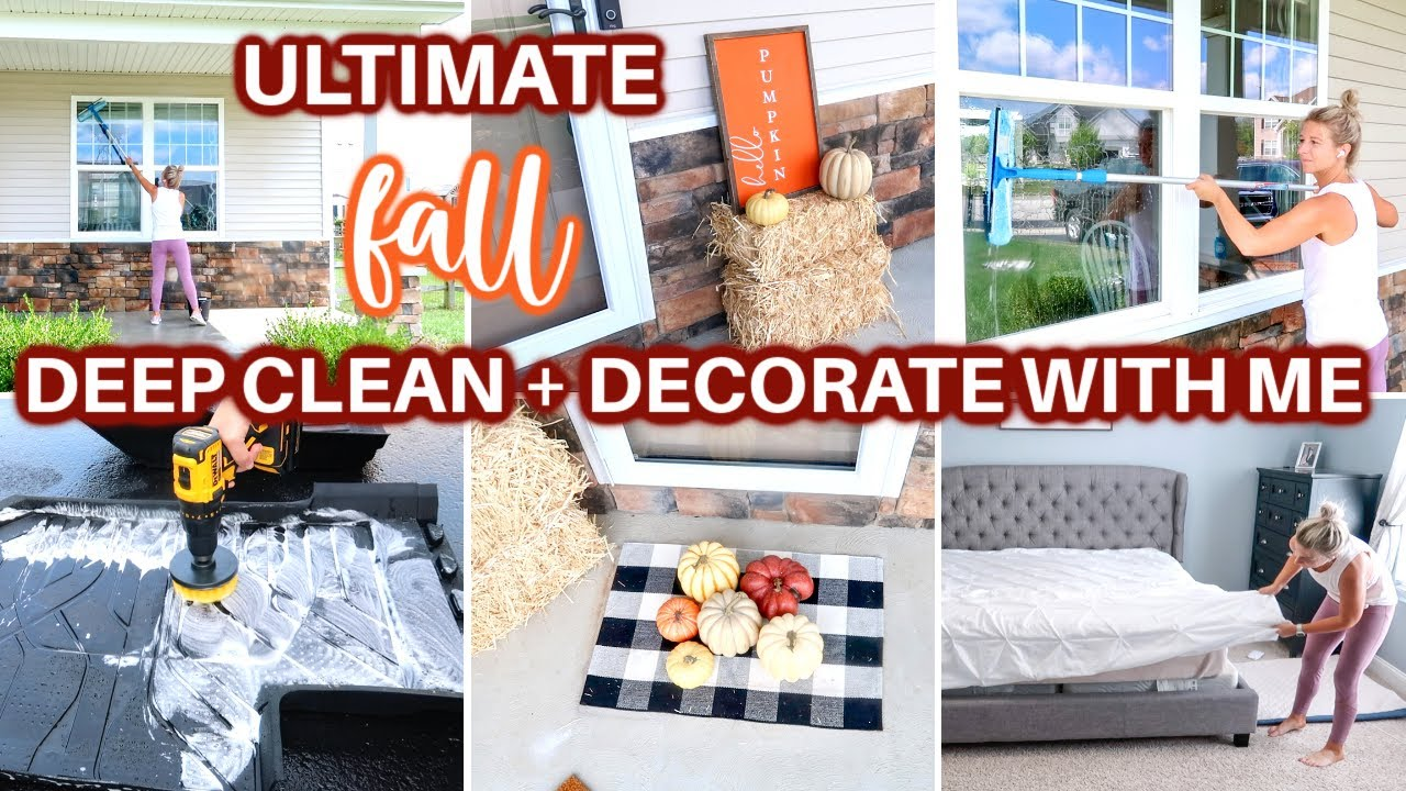 🍁ULTIMATE FALL DEEP CLEAN DECORATE WITH ME 2021| EXTREME SPEED CLEANING MOTIVATION | FALL DECOR 2021