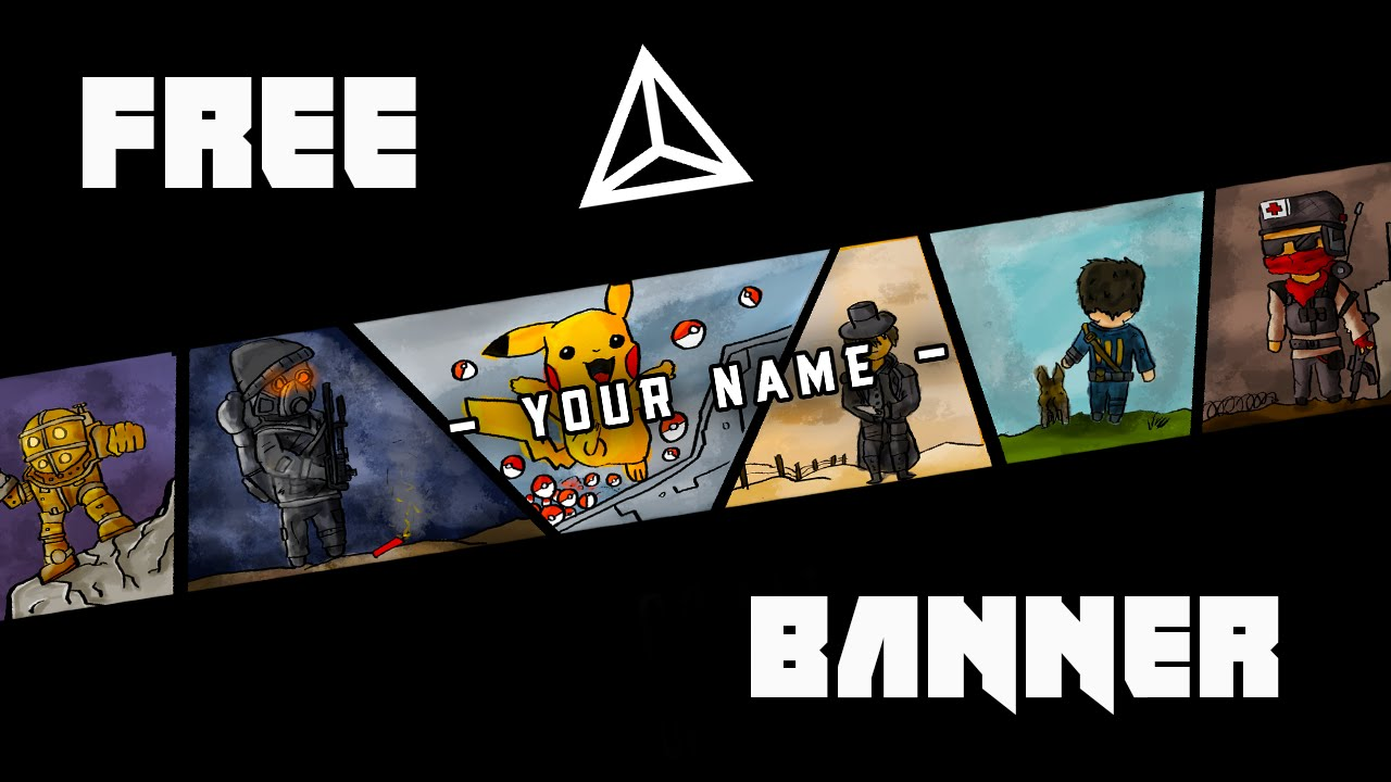 free ultimate gaming banner template speedart the division fallout 4 call of duty and more. Black Bedroom Furniture Sets. Home Design Ideas
