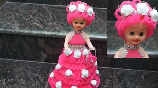 Doll Decoration Idea/Foam sheet doll dress/How to decoration doll