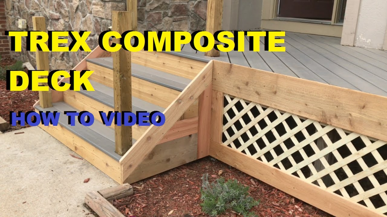How To Install A Composite And Cedar Wood Deck Skirting