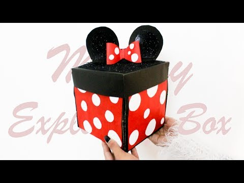 DIY : Exploding Box | Mickey Mouse Theme | Card Ideas | Best Card for Birthday or.  Teachers day