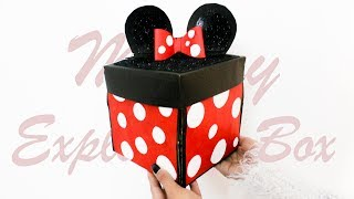 DIY : Exploding Box   Mickey Mouse Theme   Card Ideas   Best Card for Birthday or.  Teachers day