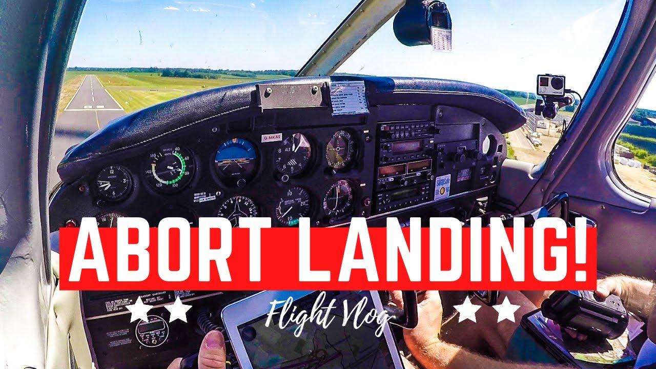 ABORTED LANDING | Formula 1 at Silverstone | Landing at Turweston in a PA28 Cherokee | Flight Vlog