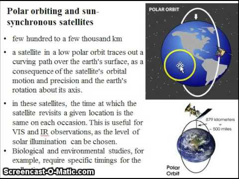 Geostationary and polar orbiting satellites