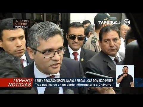 José Domingo Pérez: habría filtrado preguntas a Pedro Chávarry