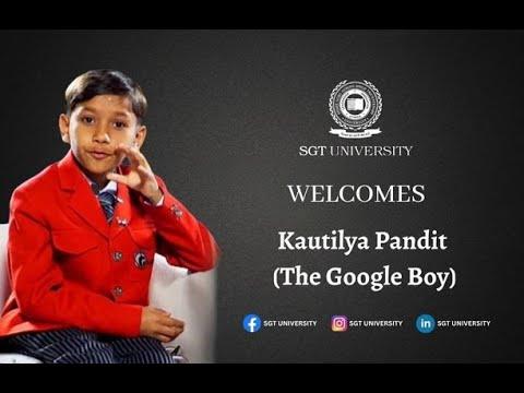 "Motivational speech By Google boy ""Kautilya"" and ""Janvi"" at SGT University"