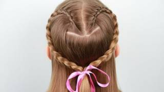 Lace Braid Heart | Valentine's Day | Cute Girls Hairstyles