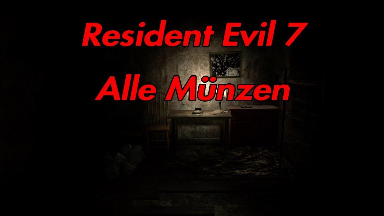 Resident Evil 7 Alle Münzen Einfachnormal Youtube