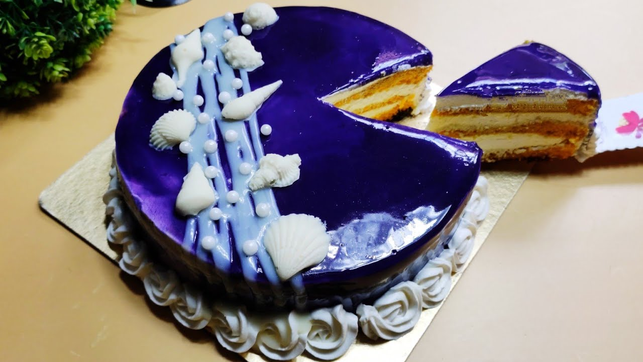সমুদ্র বিলাস কেক | ২টা ডিম দিয়ে তৈরি আমের কেক | Sea Beach Cake | Mango Sponge Cake | Glaze Cake | Ca