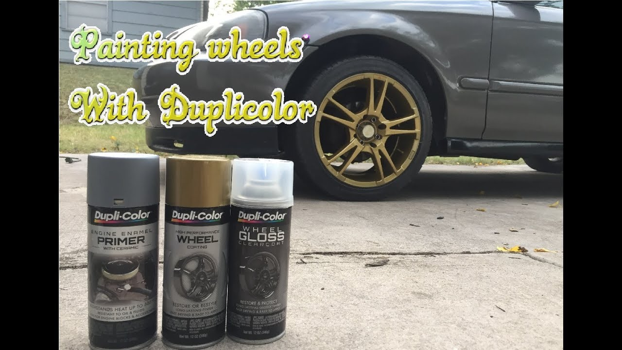 How To Paint Wheels Using Dupli Color To Achieve A Nice Finish