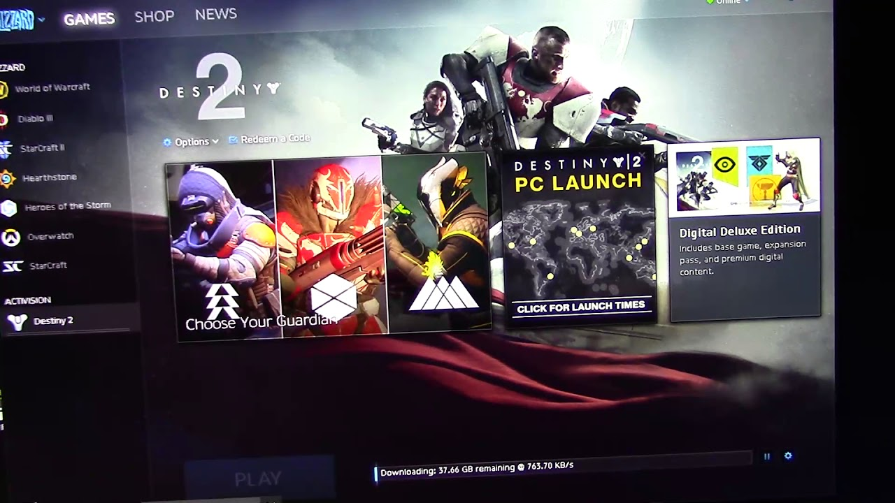 destiny 2 download size pc