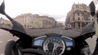 (300 км/ч) На Мотоцикле по Москве!!!)))