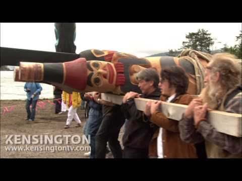 David Suzuki participates in Totem Pole Raising Ceremony in Haida Gwaii (The Sacred Balance excerpt)