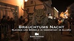 Brauchtums Nacht   Klausen und Bärbele in Immenstadt im Allgäu   40 Gruppen aus 5 Ländern