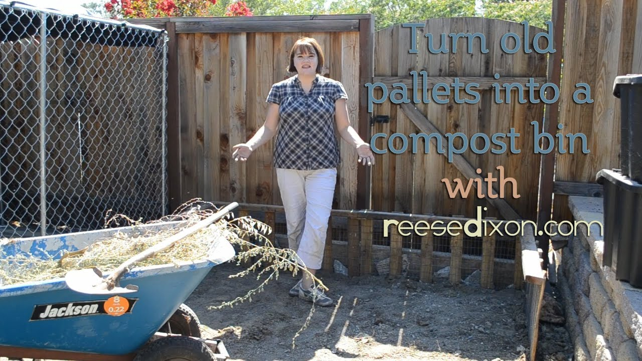 Diy Compost Bin From A Recycled Pallet Youtube