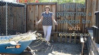 DIY Compost Bin from a recycled pallet