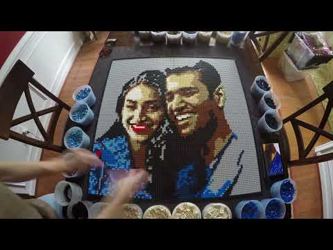 Yuvraj And Rhea- A Brickworkz LEGO Portrait In Time-lapse!