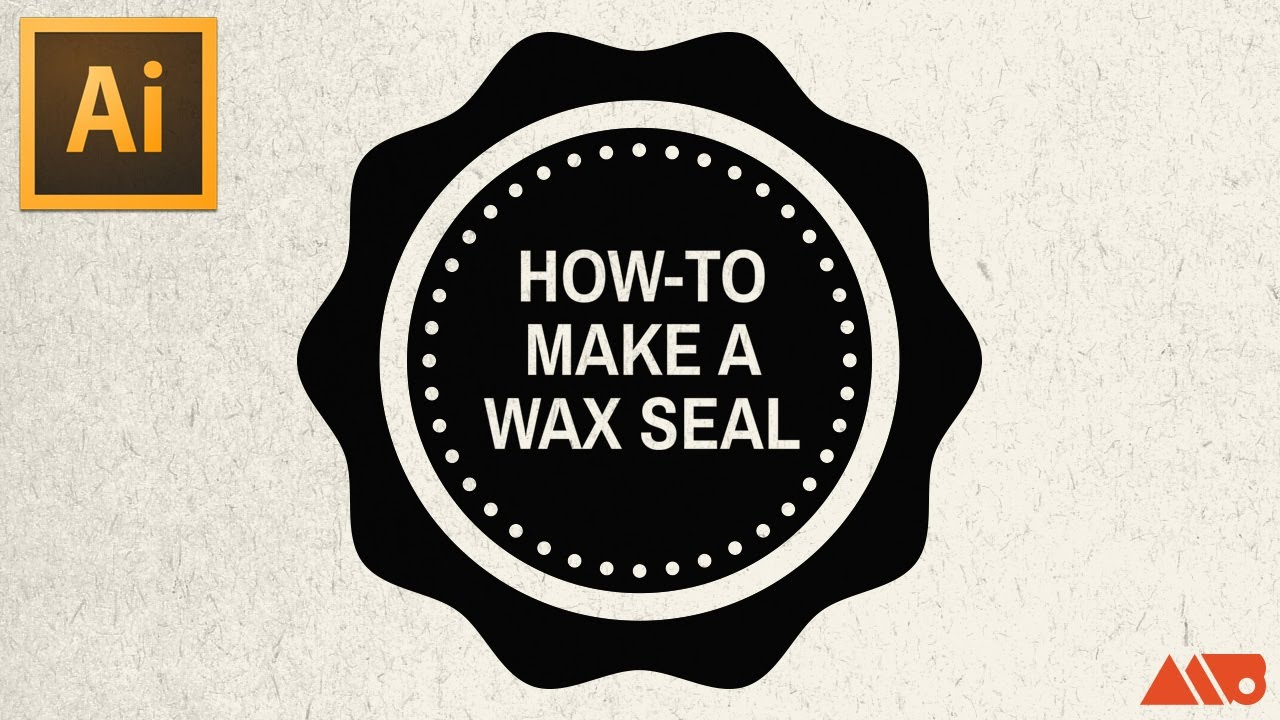 Adobe Illustrator Tutorial: How-to Make a Wax Seal / Badge
