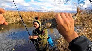 Ловля,Риболовля на ХАРІУСА за СИБІРСЬКІ.ОСЕНЬ19г(Перший СНІГ.)