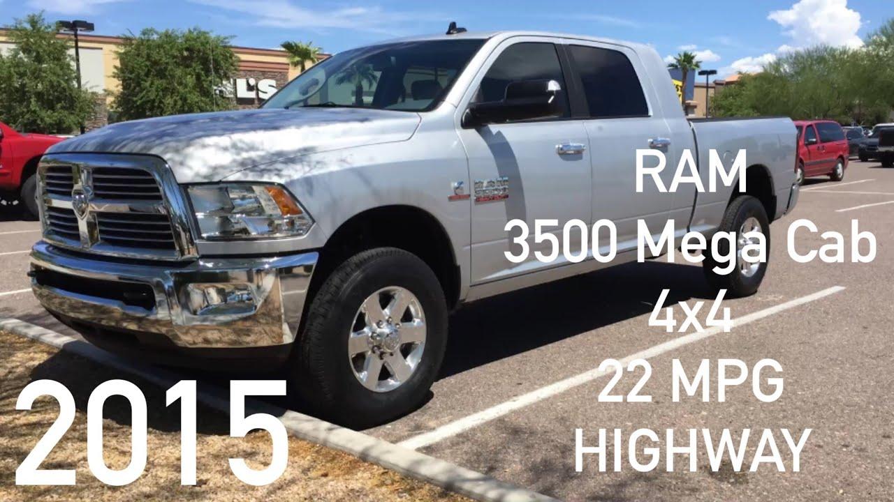 2015 Ram 3500 Mega cab diesel 4x4 MPG Highway - SRW - YouTube