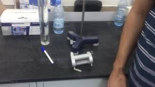 Determination of the viscosity coefficient of viscous fluids
