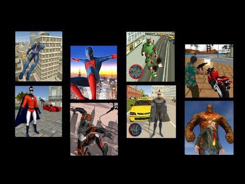 ► games hole multi gameplay#40 | Vegas Crime Simulator,Rope Hero,Strange Hero Future Battle +7 games